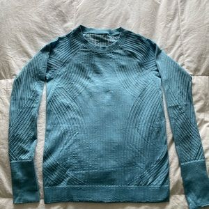 Lululemon restless pullover 6 teal